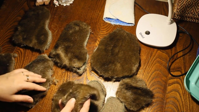 Part 2 cutting and details for a hare. how to sew a bunny piglet. sew an old fur coat toys *_*