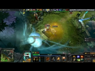 Dendi Pudge Puppey Chen fountain hooking - NaVi vs TongFu - Dota 2 #ti3