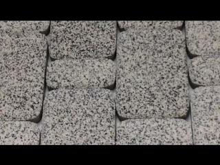 Тротуарная плитка Старый город стоун-топ бело-черный Ландшафт