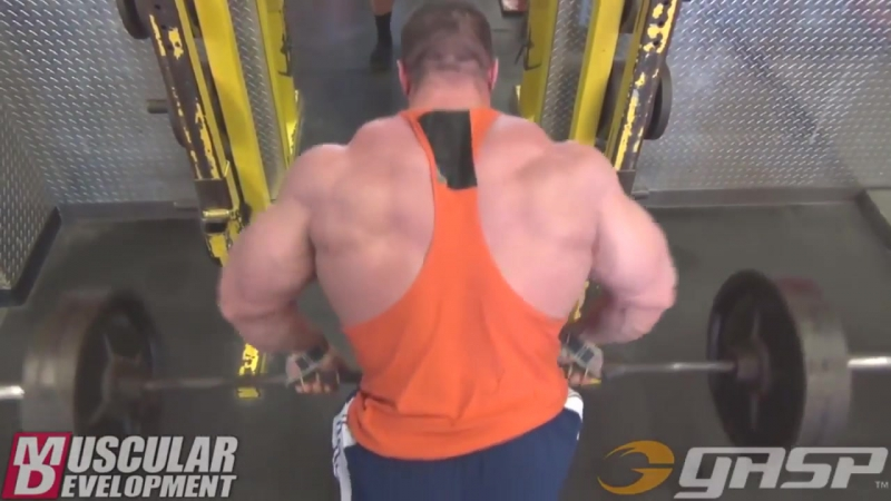 Evan Centopanis Heavy BACK Training For Mass Gain
