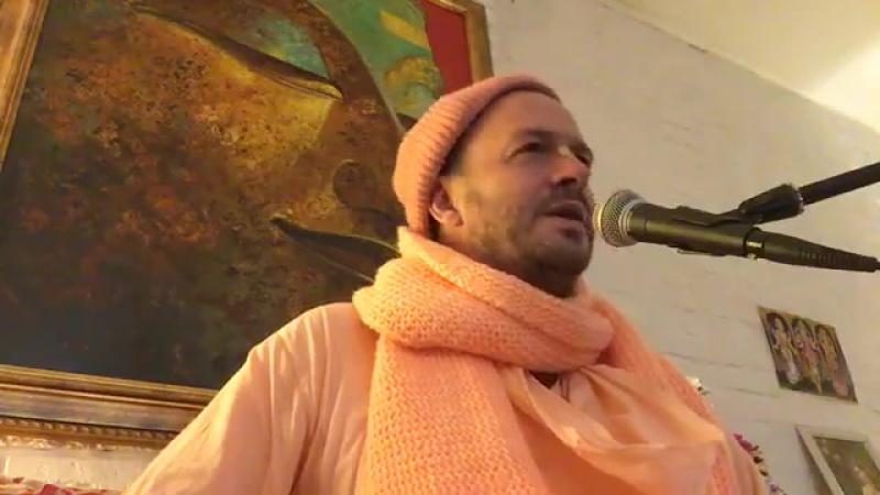 BV Damodar Russian classes 2017 2018 - Evening class from Saraswati Place in Moscow Necessity of sadhu sanga (SD) (via Skyload