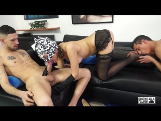 Cindy cat – naughty mmf threesome casting with sexy masked italian cindy cat