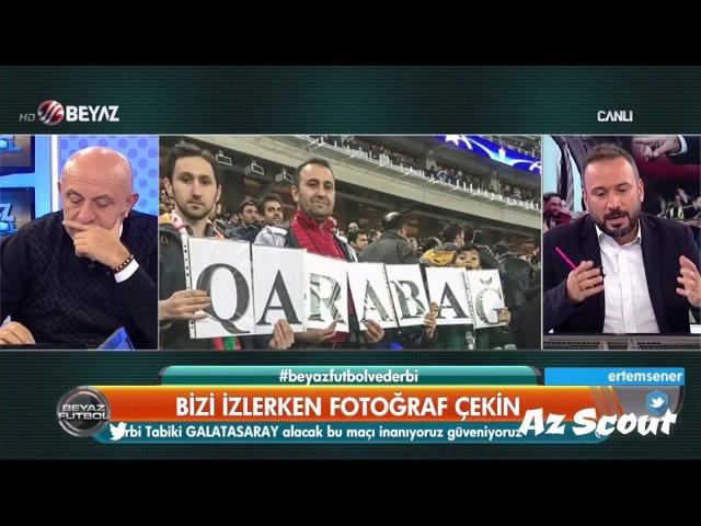 Beyaz Futbol Qarabağ FK-a dəstək olundu və Sabah qəzetinin xəbəri təndiq edildi (Ertem Şener Sinan )