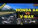 HONDA X4 vs YAMAHA V-MAX