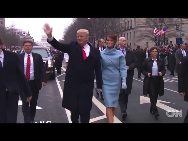 Реакция Трампа на российский флаг Russian Flag Flies Proudly at Trump inaugural parade HD