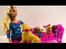Куклы Барби Распаковка набора Собачка с щенками игрушки для девочек на русском