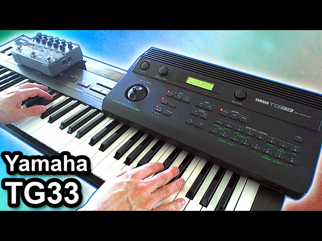 YAMAHA TG33 - Ambient industrial music soundscape 【SYNTH DEMO】