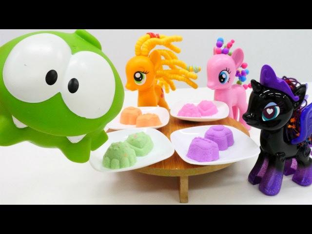 My Little Pony Kurabiye Oyunları On Nom çay partine çağırıyor Kinetik kum videoları Evcilik oyunu