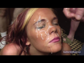 [SouthernBukkake] Miley [Bukkake, Blowjob, Blowbang, Cumshot, Sperm, Facial, Cum, Отсос, Минет, Шлюхи, Сперма на лице, Буккаке]
