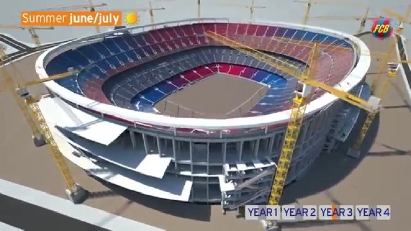 NEW CAMP NOU - Phased construction while continuing to play matches.mp4