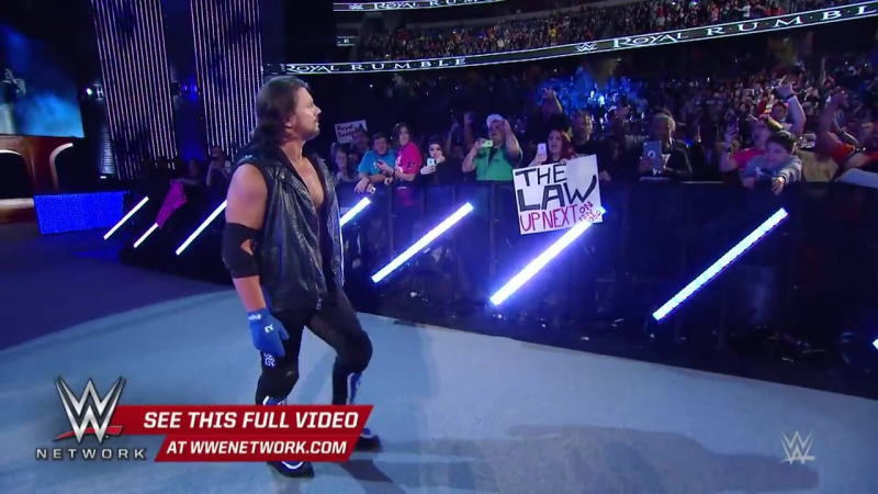 Unseen footage of AJ Styles' Royal Rumble debut on WWE Network
