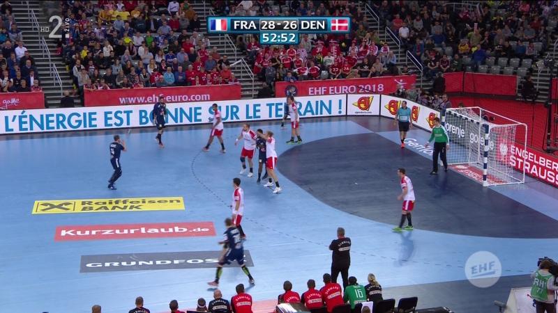 Francuska - Danska 32-29, posljednjih 8 minuta (Za 3. mjesto, EURO CROATIA 2018), 28.01.2018. Full HD