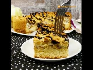 Пирог Мишка с орехово-белковой начинкой