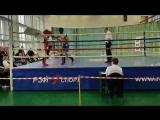 Чернов Илья против Зуев Д. бой за 1 место на Чемпионате Москвы по кик-боксингу - победа