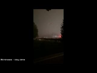 Сильнейшая пыльная буря в селе Георгиевка (Калбатау) Казахстан 17072017 (очень страшно)