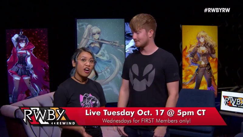 Catch the premiere of RWBY Rewind on 1017 at 5pm CDT to see all things RWBY! Start a free trial for FIRST to watch!