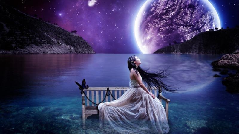 Одинокая луна. Моцарт Мелодия сердца.