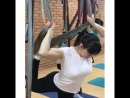 Развиваем гибкость в полёте и невесомости 😉😏😏 Почувствуйте себя на тренировке 👍😱 AG Stretch воздушными гимнастками 🤸♀️ и гимнас