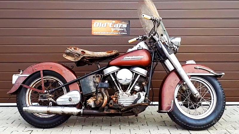 Мотоцикл Harley Davidson Panhead Hydra Glide, 1952 года