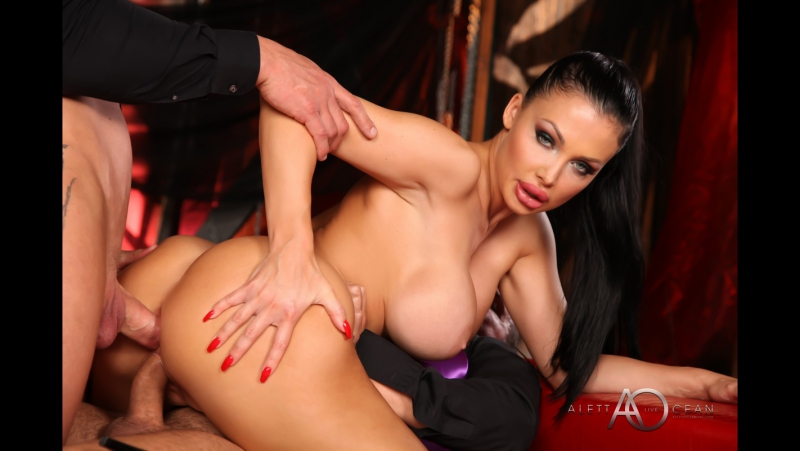 PRon Aletta Ocean ( Black Leather Double Pleasure, 2017 г. , Gonzo, Anal, DP,