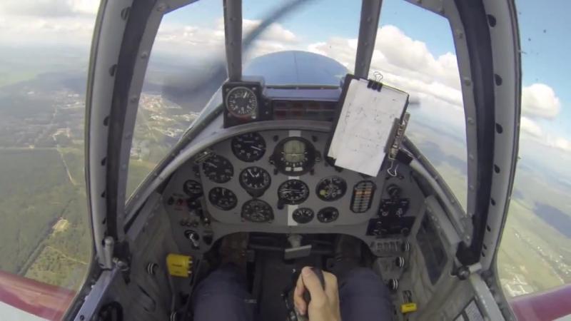 Сергей Карпов. Як- 52. Тренировочный полет с отказавшим Авиагоризонтом АГБ-3К