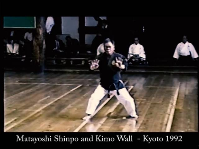 Matayoshi Shinpo and Kimo Wall demonstrate kobudo at the Butokukai 1992