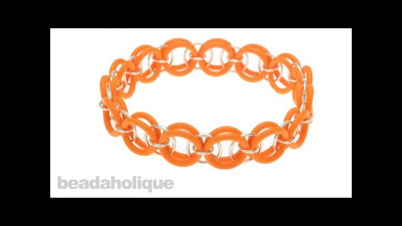 How to Make a Helm Weave Chain Maille Bracelet Using Rubber O-Rings
