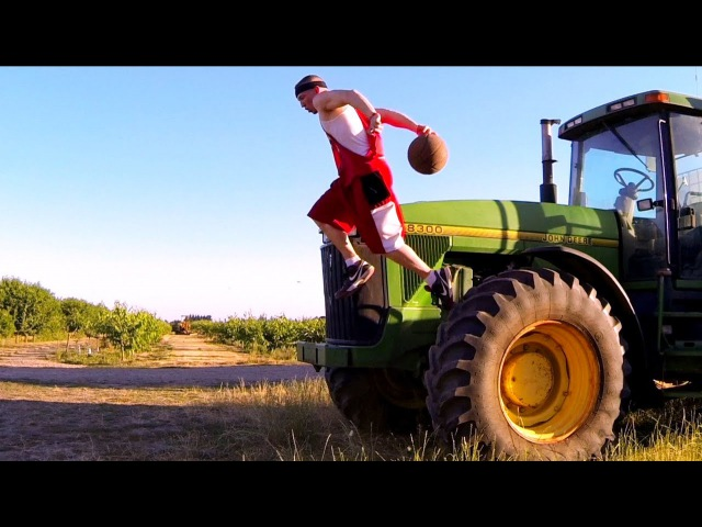 Country Basketball Drills | John Deere Tractor Dribbling Ball Handling Drills