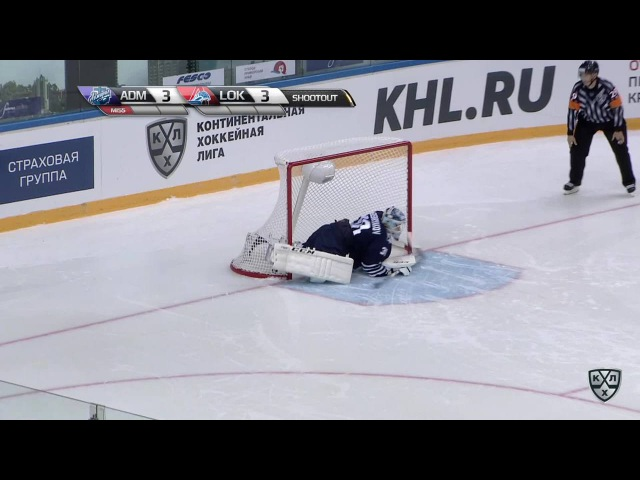 КХЛ (Континентальная хоккейная лига) - Моменты из матчей КХЛ сезона 16/17 - Гол. 3:4. Чистов Станисл