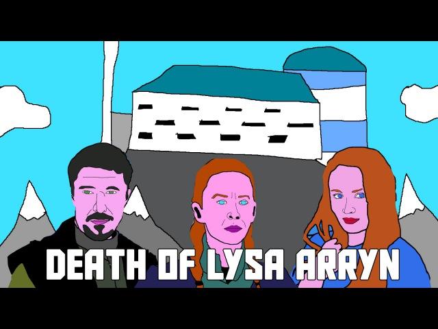 Lysa Arryn's Death - Cartoon