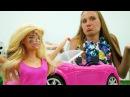 Видео для девочек. Барби и Кен ПОМЕНЯЛИСЬ делами Барби ЧИНИТ машину. Кен ПЕЧЕТ ...