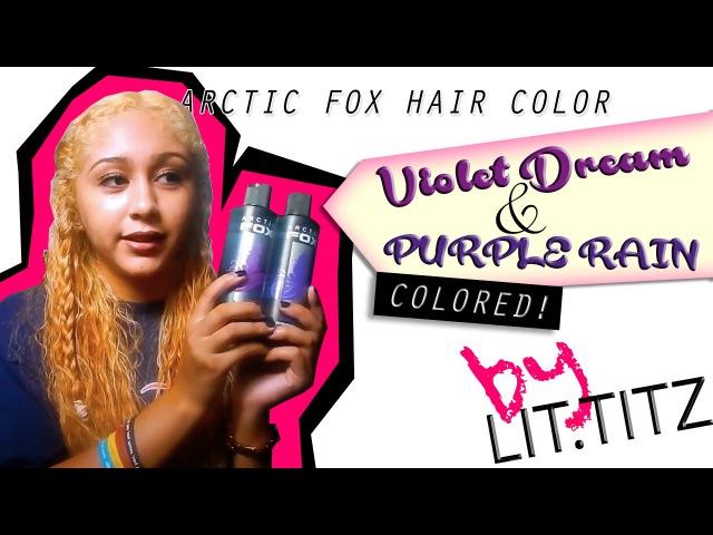 Hair Dyed Purple | Arctic Fox Hair Color Violet Dream Purple Rain