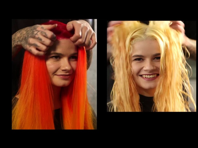 Jaymz Marsters sizzling hot color melt tutorial with Manic Panic Professional Gel Hair Color