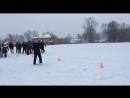 Зимняя эстафета между нашими и французскими школьниками