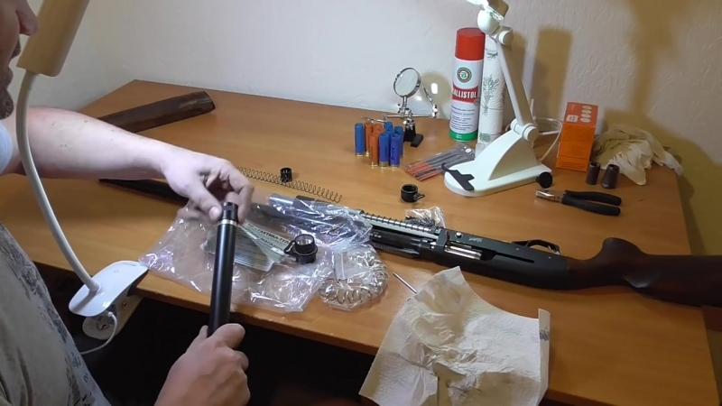 МР-155 НАПИЛИНГ и установка удлинителя магазина