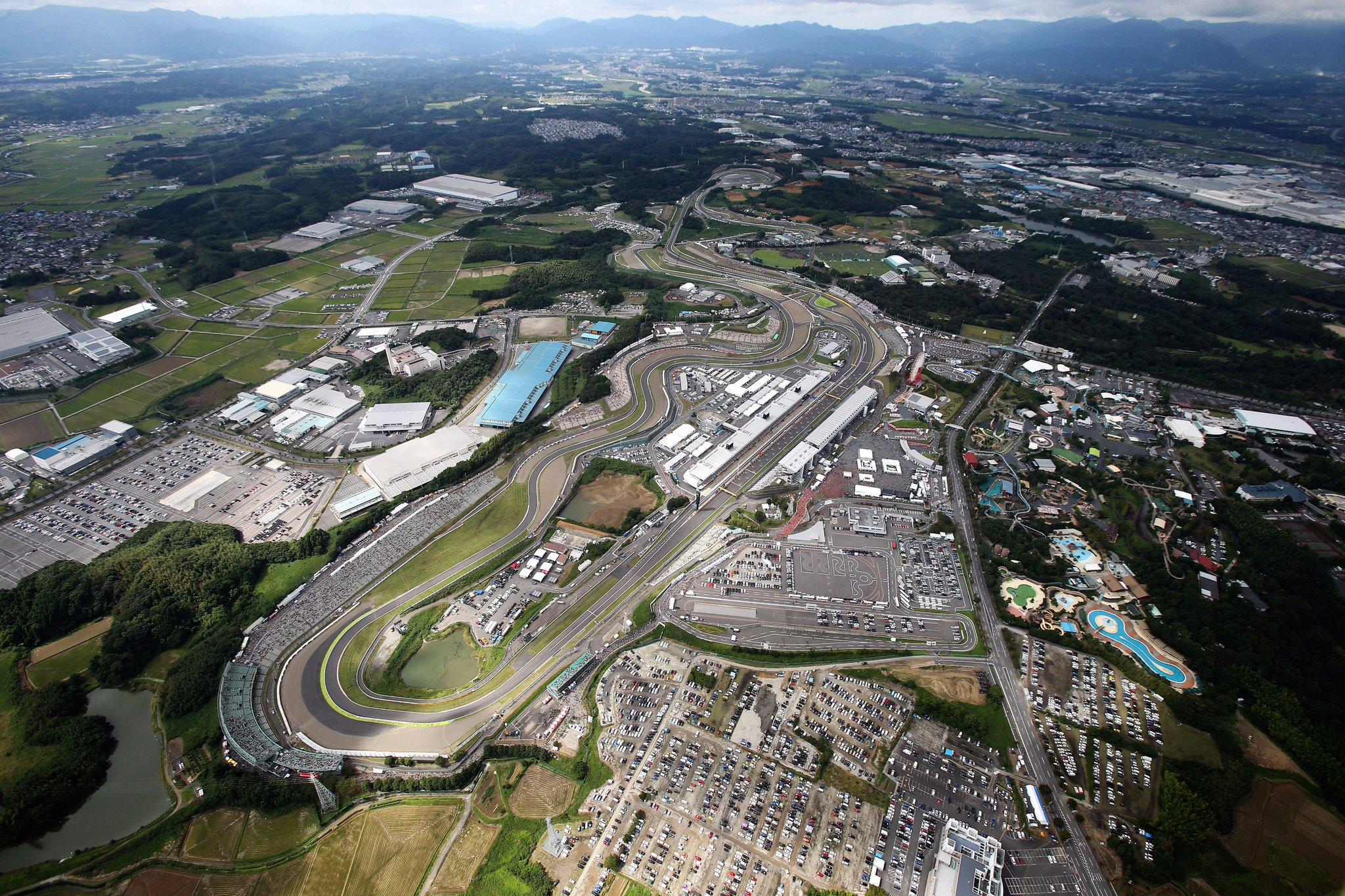 Автодром Сузука в Японии с высоты птичьего полёта