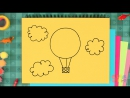 How To Draw A Hot Air Balloon _ Simple Drawing Lesson for Kids _ Step By Step