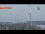 Первая в Беларуси воздушная ЛЭП 110кВ на повышенных опорах