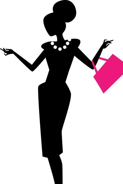 fashion silhouette png - 400×599