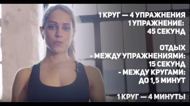 Жиросжигающая тренировка на все группы мышц [Фитнес Подруга]