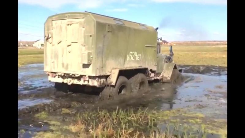 ЗИЛ-131 с движком MMC - 6D15 - 6WD - МОЩЬ! Гребет только так.