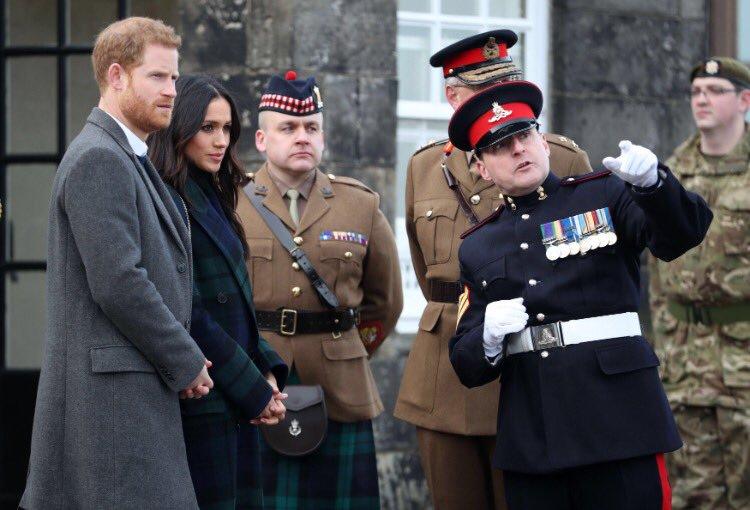 Визит принца Гарри и Меган Маркл в Эдинбург