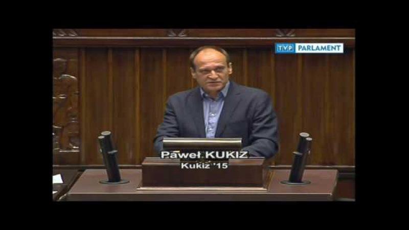 Paweł Kukiz znowu masakruje POPiS w Sejmie (05.07.2017)