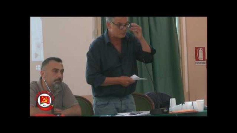 Convegno PCI Mediterraneo - Fosco Giannini