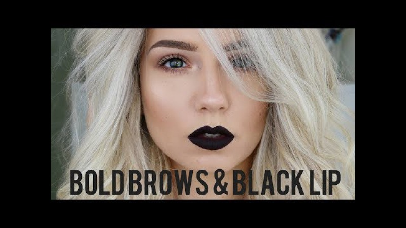 Bold Brows Black Lip | Quickie Tutorial