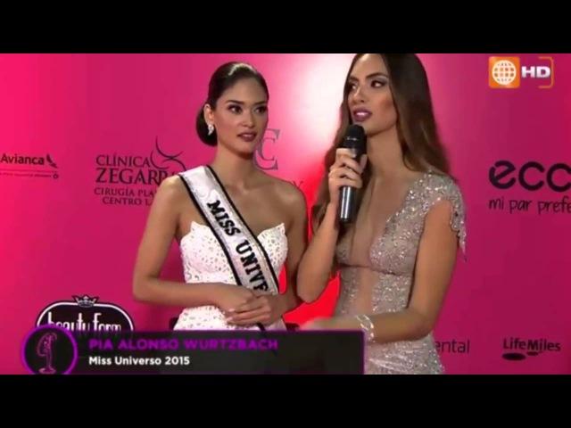 Miss Universe 2015 Pia Wurtzbach Judge Special Guest in Miss Peru 2016