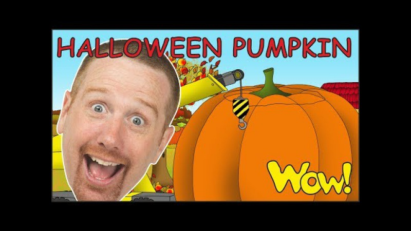 Halloween Pumpkin Story from Steve and Maggie NEW for Kids   Learn Wow English TV for Children