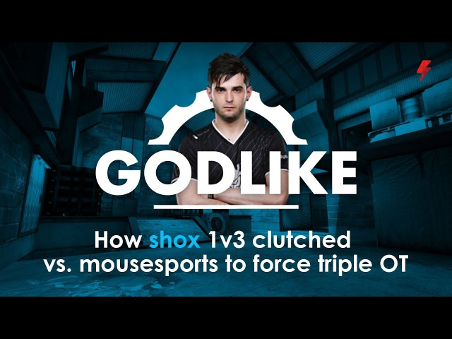 How shox 1v3 clutched vs. mousesports to force triple OT