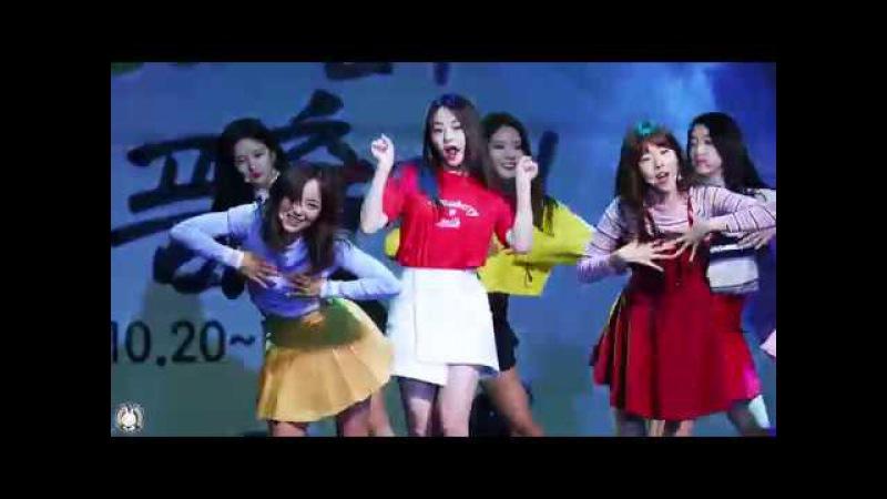 [4K] 171019 구구단 미나 직캠 'Wonderland(원더랜드)' gugudan Fancam @홍천인삼 한우 명품축제 도시산4754