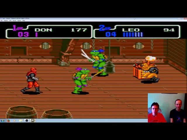 TMNT Hyperstone Heist (Sega Genesis - Прохождение вдвоём на Hard)